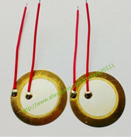 [해외]100PCS/LOT , 35mm Piezo Ceramic Elementcable length /100PCS/LOT , 35mm Piezo Ceramic Elementcable length