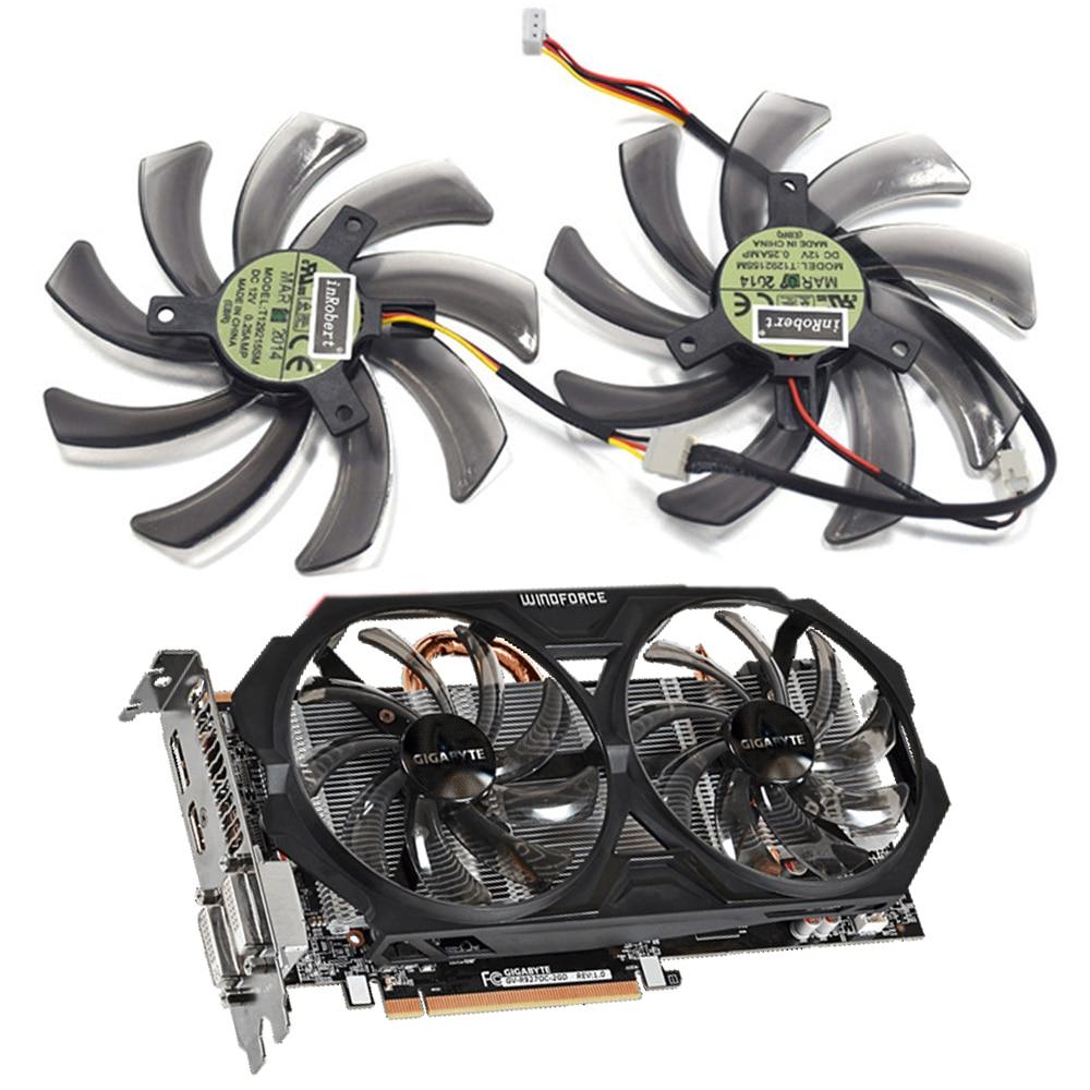 95MM T129215SM R9 270 쿨러 팬 Gigabyte HD 7850 7790 라돈 R9 270 270X GTX 670 660 650Ti 560 ATI Radeon R9 200 카드