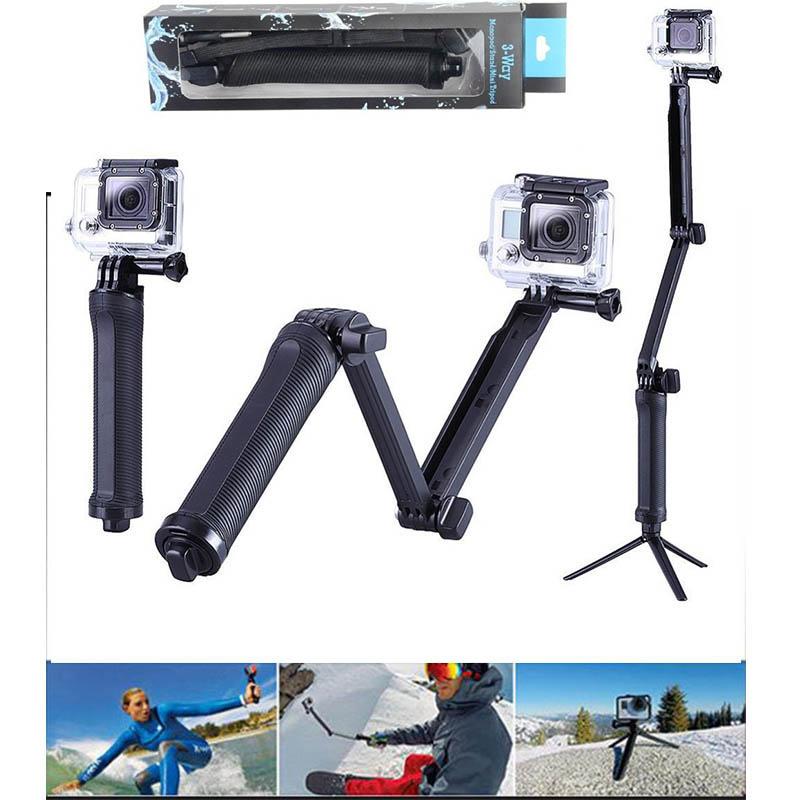[해외]그립 삼각대 용 GoPro 3 웨이 모노 포드 암 마운트 조절 식 받침대 브래킷 핸드 헬드 자체 극 고포로 영웅 용 4 / 3 + 3 SJ4000 SJ5000/Grip Tripods For GoPro 3 Way Monopod Arm Mount Adjustable