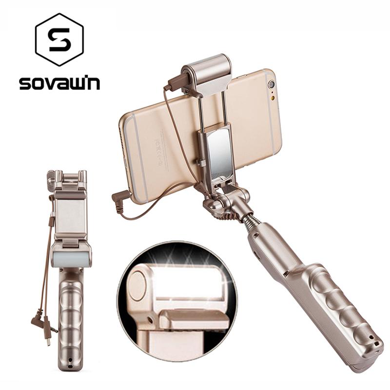 [해외]휴대용 유령 Selfie 스틱 거울 LED 라이트 360 회전 유니버설 홀더 Monopod 삼각대 휴대 전화 충전식 핸드 헬드/Portable Wired Selfie Stick Mirror LED Light 360 Rotate Universal Holder Mo