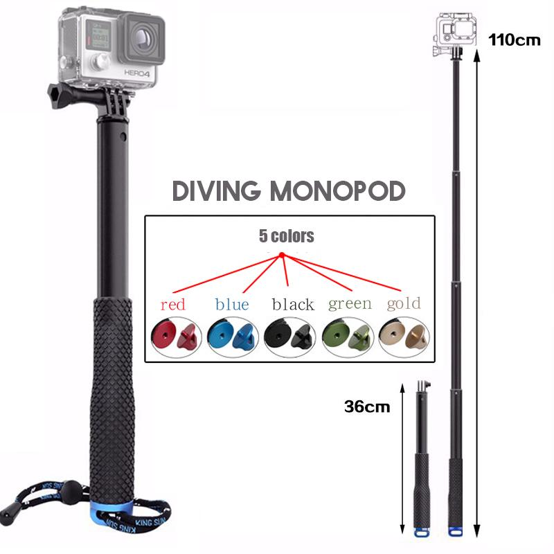 [해외]gopro 용 핸드 헬드 셀키 스틱 gopro 용 HERO5 HERO4 HERO3 영웅 3+ 4 5 SJCAM sj4000 카메라 액세서리/Handheld Selfie Stick for gopro Monopod tripod sj4000 for gopro HERO