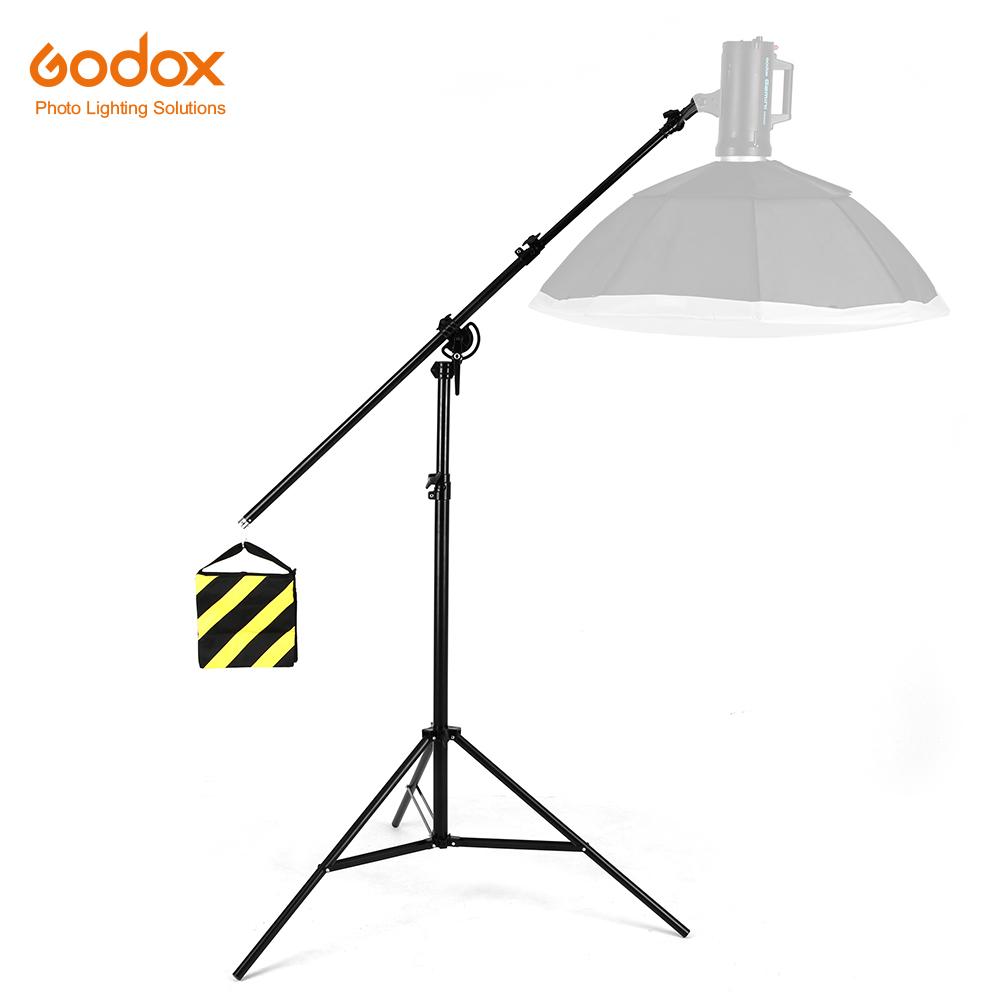 [해외]126 & 320cm 2in1 빛 대, 붐 팔, 회전 가능 알루미늄 조정 가능한 삼각대 붐 빛 StandSandbag 스튜디오 사진술/126& 320cm 2in1 Light Stand,Boom Arm,Rotatable Aluminum Adjustable