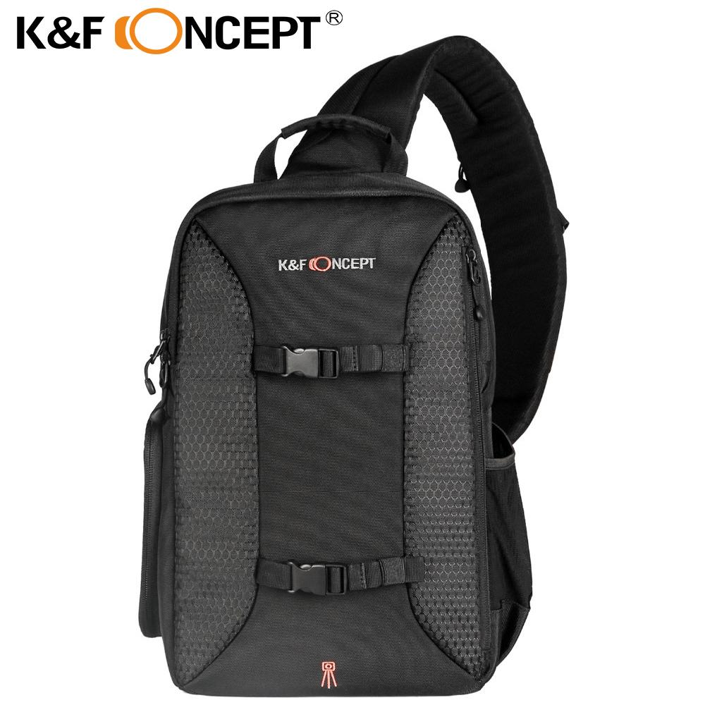 [해외]K & F CONCEPT 다기능 DSLR 카메라 배낭 캐주얼 스타일 슬링 메신저 여행용 가방, 삼각대 iPad + 레인 커버 잡기/K&F CONCEPT Multifunctional DSLR Camera Backpack Casual Style Sli