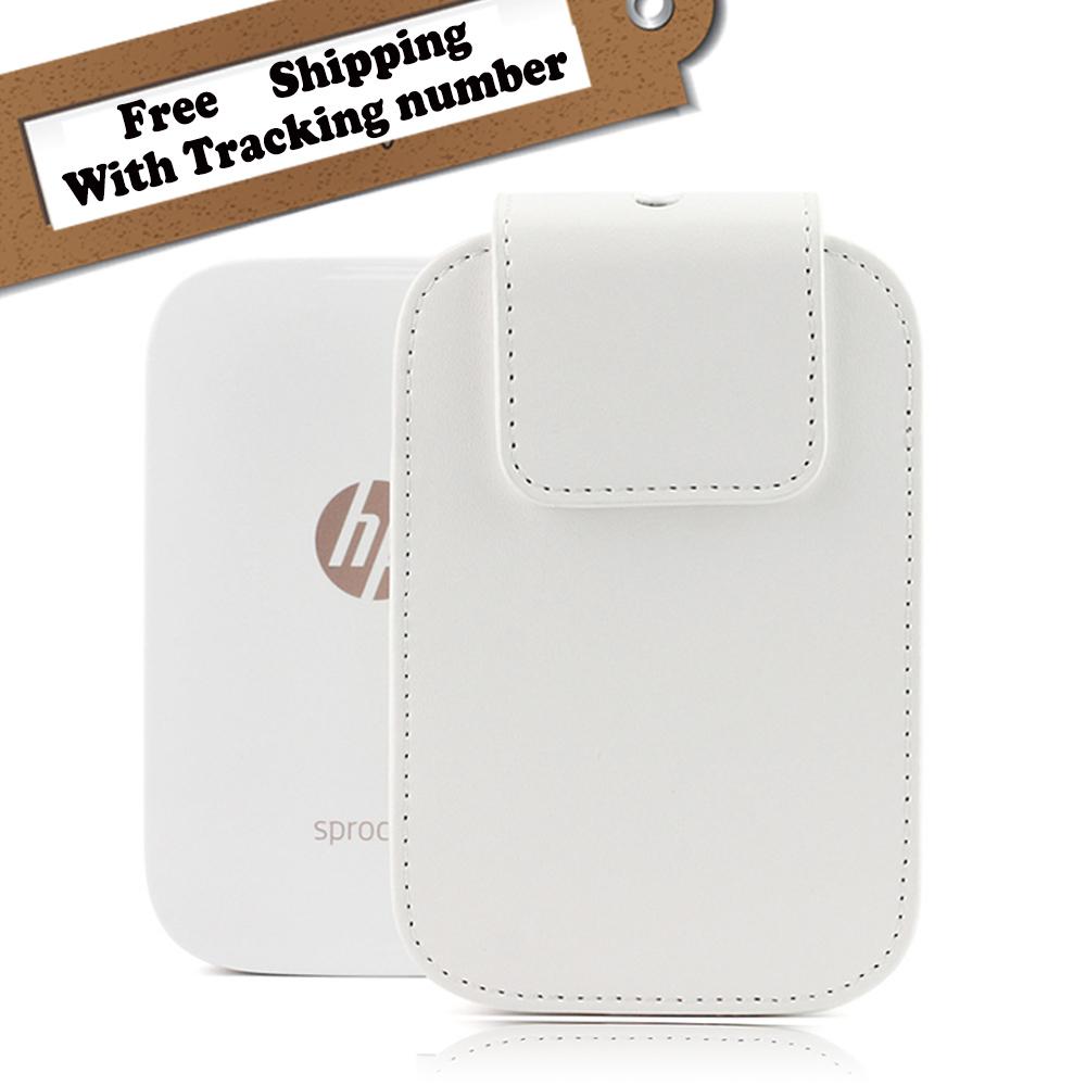 [해외]HP 스프로킷 ZINK 포토 프린터 보호 Pu 가죽 케이스 백 Caiul 운반 케이스 커버 파우치 화이트 색상/For HP Sprocket ZINK Photo Printer Protective Pu Leather Case Bag Caiul Carrying Cas