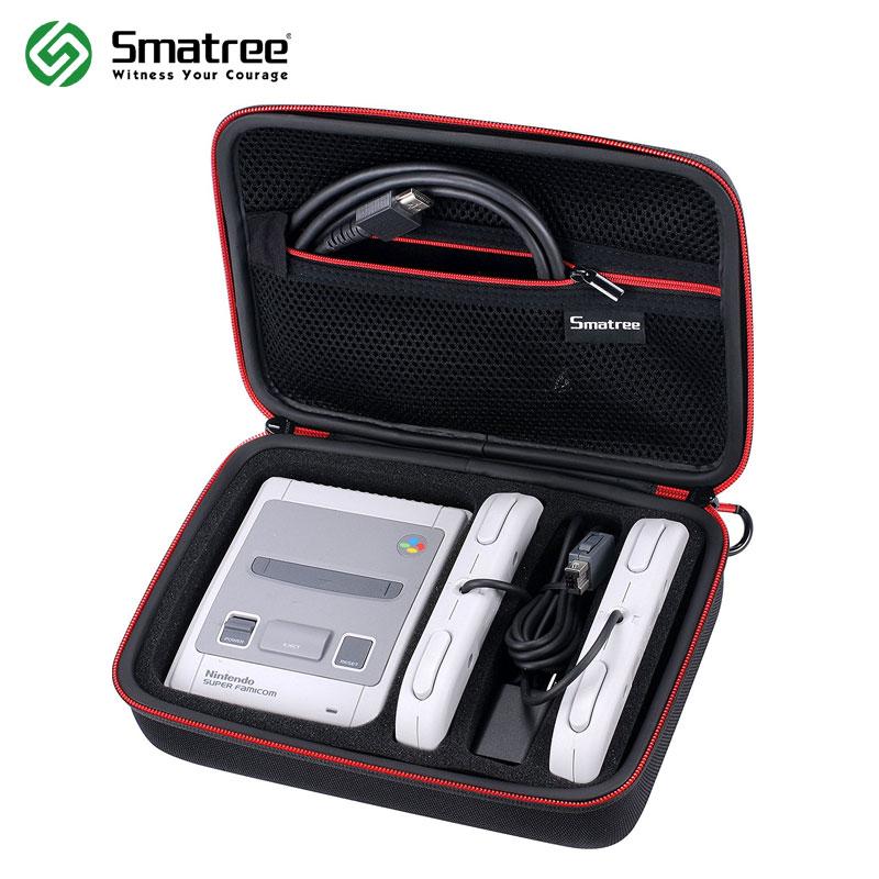 [해외]닌텐도 SNES 슈퍼 NES 클래식 미니 (2017), 2 컨트롤러에 맞게 Smatree 휴대용 케이스, 충전기 및 HDMI 케이블/Smatree Carrying Case for Nintendo SNES Super NES Classic Mini(2017), Fi
