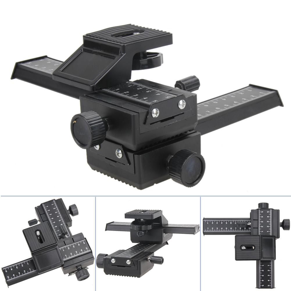 [해외]4 방향 매크로 샷 DSLR 카메라를집게 레일 금속 슬라이더 Nikon / Minolta / Peantax 용 조절 식 사진 가로장 슬라이드 시스템/4 Way Macro Shot Focusing Rail Metal Slider for DSLR Camera Adj