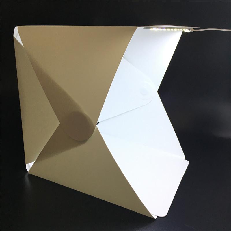 [해외]휴대용 접이식 라이트 박스 사진 스튜디오 Softbox LED가 소프트 소프트 박스 텐트 키트 아이폰에 대한 Samsang DSLR 카메라 사진 배경/Portable Folding Lightbox Photography Studio Softbox LED Light