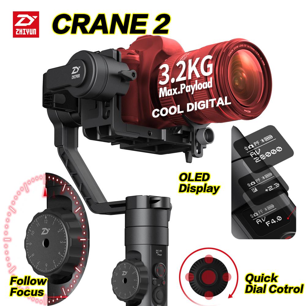 [해외]Zhiyun 크레인 2 DSLR 짐벌 안정기 Mirrorless 카메라로드 3200g 용 3 축 브러시 핸드 헬드 비디오 카메라 안키트/Zhiyun Crane 2 DSLR Gimbal Stabilizer 3 axis Brushless Handheld Video