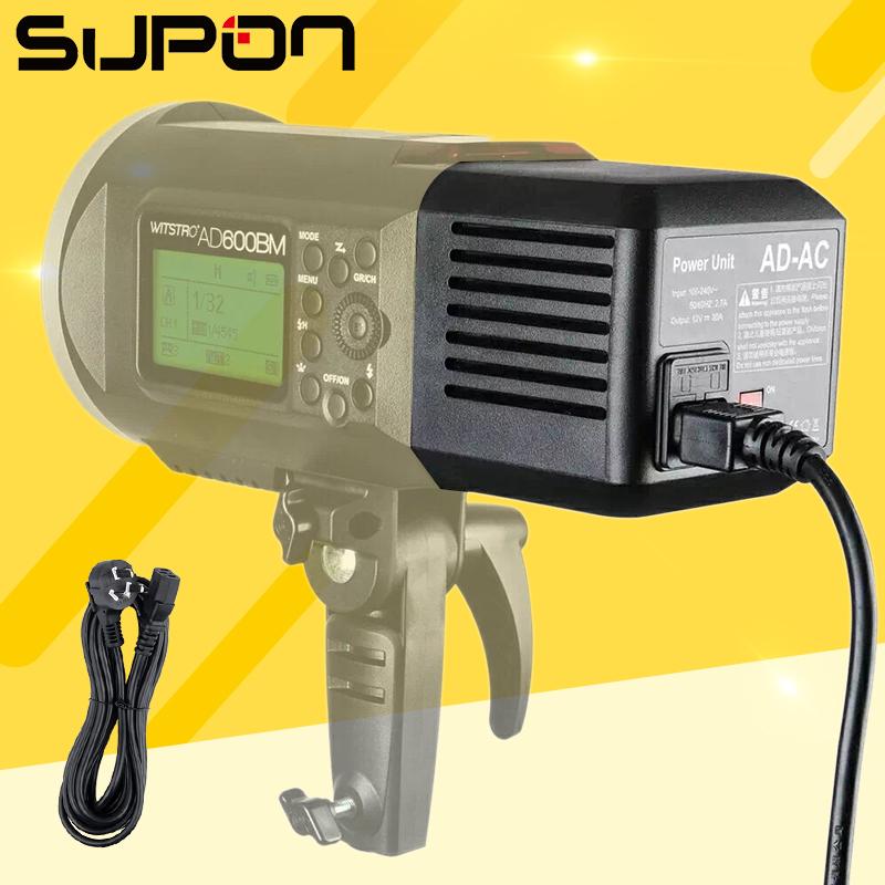 [해외]Godox AD-AC 전원 공급 장치 스튜디오 스트로브 AD600B AD600BM AD600M AD600 용 204Watt AC 벽 어댑터 케이블/Godox AD-AC Power Supply Source 204Watt AC Wall Adapter Cable fo