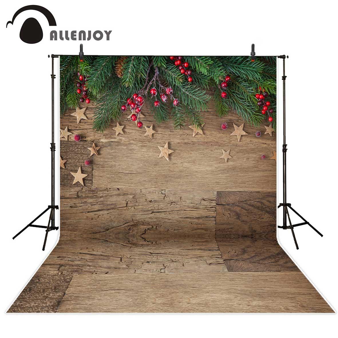 [해외]사진 스튜디오를Allenjoy 배경 크리스마스 나무 별 녹색 잎 배경 photocall photobooth 사진/Allenjoy backgrounds for photo studio Christmas wood stars green leaves backdrop ph