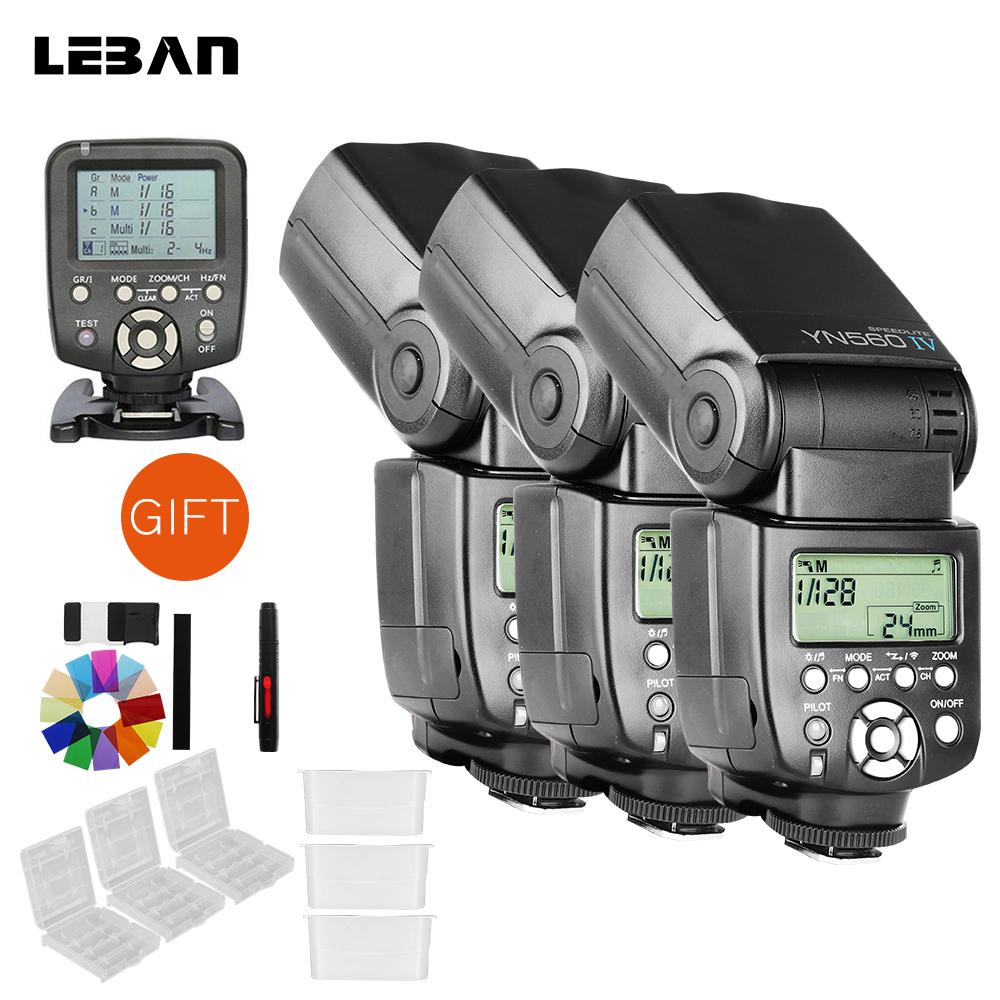 [해외]3PCS Yongnuo YN560IV 무선 플래시 + YN560TX 플래시 컨트롤러 캐논 / 니콘 카메라에 대한 트리거/3PCS Yongnuo YN560IV Wireless Flash + YN560TX Flash Controller Trigger For Cano