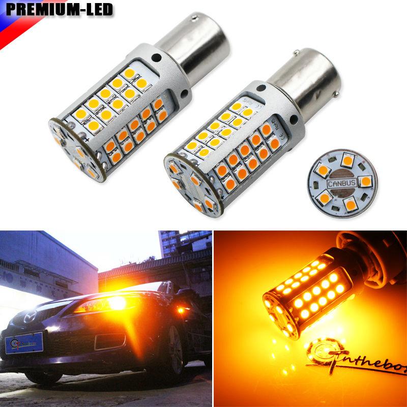 [해외](2) 아니 하이퍼 플래시 21W 높은 전력 황색 BAU15S 7507 PY21W 1156PY LED 전구 자동차 앞 또는 후면 턴 신호등, 캔버스 12V/(2) No Hyper Flash 21W High Power Amber BAU15S 7507 PY21W 1