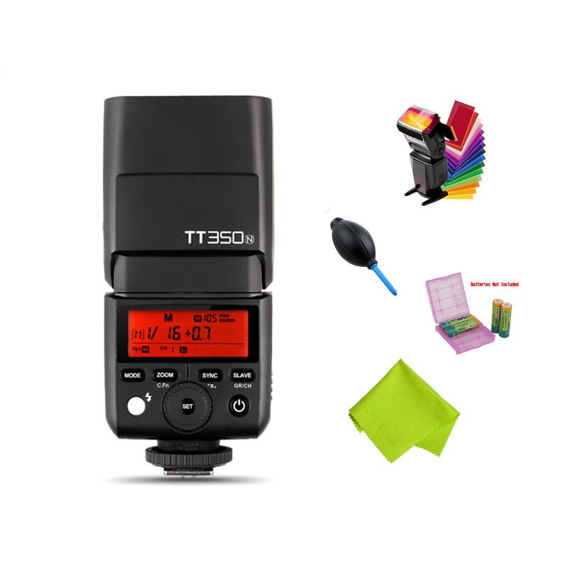 [해외]GODOX TT350N 2.4G HSS 1 / 8000s TTL GN36 카메라 플래시 Speedlite Nikon D750 용 D7000 D7100 D5100 D5200 D5000 D3200 D3100 용/GODOX TT350N 2.4G HSS 1/8000s
