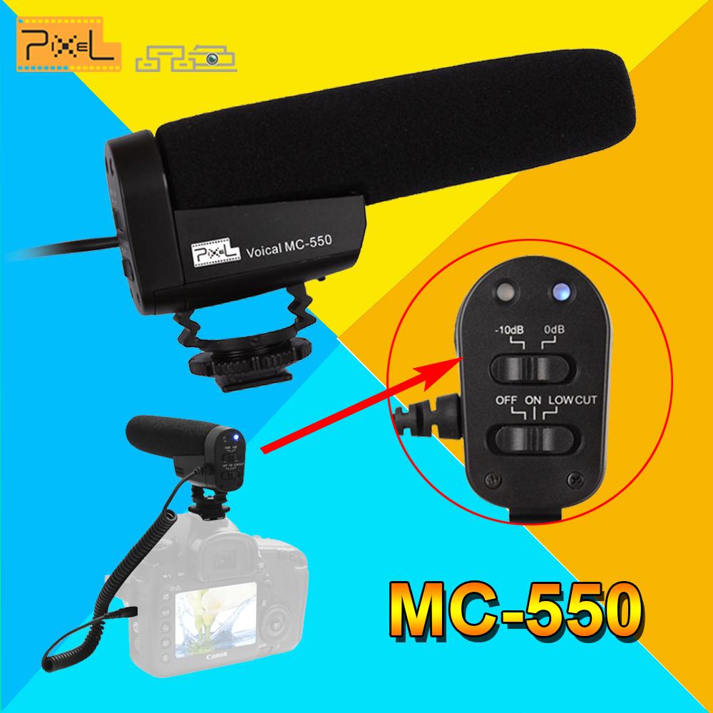 [해외]픽셀 엠씨 - 550 사진술 음성 녹음 인터뷰 마이크 DSLR 카메라에 대한/Pixel MC-550 Photography Professional Voical Recording Interview Microphone For DSLR Camera