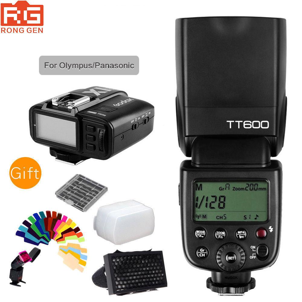 [해외]Godox Thinklite TT600 올림푸스 파나소닉을2.4G 무선 GN60 마스터 / 슬레이브 카메라 플래시 스피드 라이트 + X1T-O TTL 트랜스미터/Godox Thinklite TT600 2.4G Wireless GN60 Master/Slave Ca