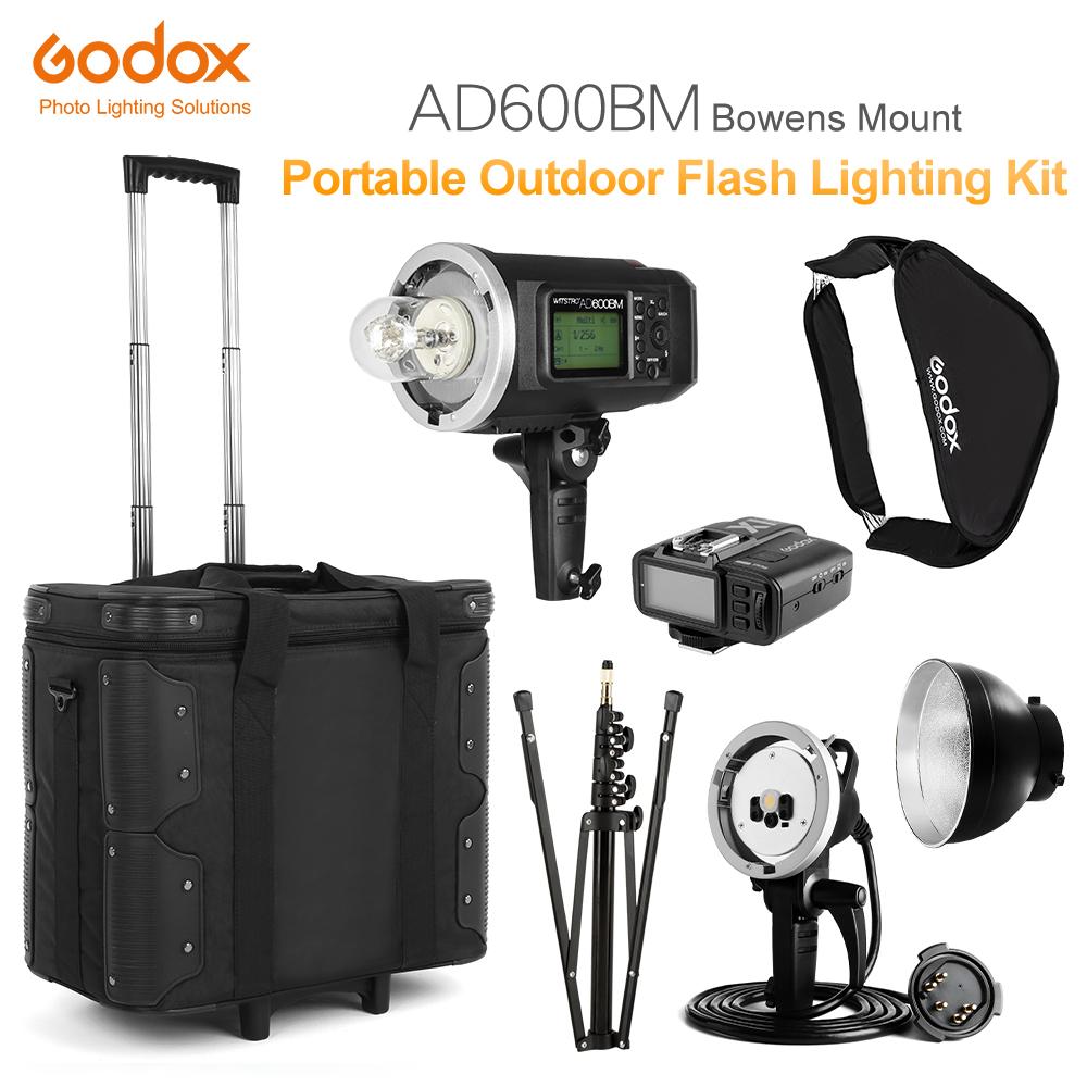 [해외]GODOX AD600BM HSS 2.4G 무선 플래시 라이트 스피드 라이트, X1 트랜스미터, AD-H600B 헤드, 드로우 바 캐리 백, 라이트 스탠드/GODOX AD600BM HSS 2.4G Wireless Flash Light Speedlite,X1 Tra