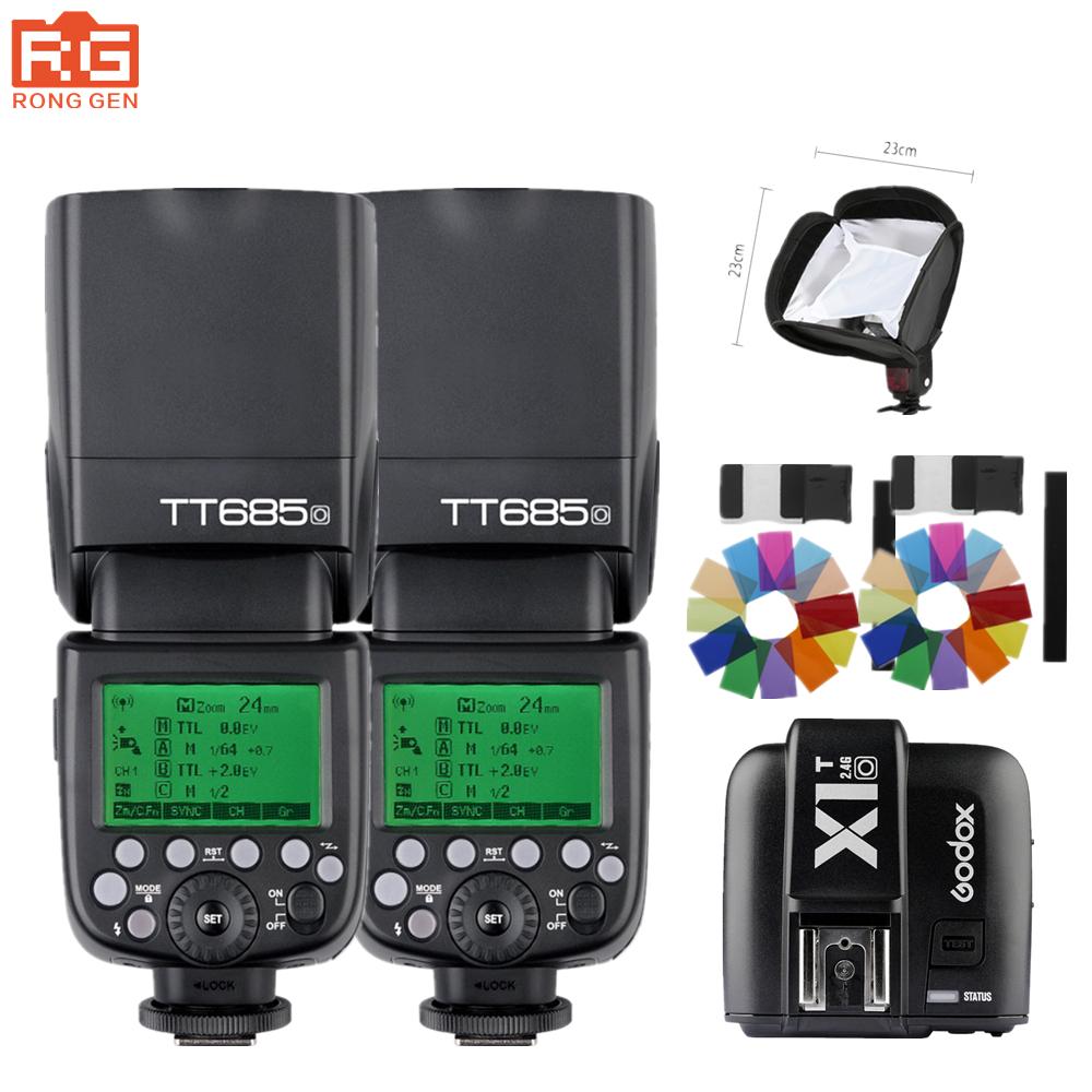 [해외]Godox TT685O 1 / 8000s GN60 TTL 무선 플래시 라이트 Speedlite X1TO X1T-O Olympus Lumix 카메라 용 트리거/Godox TT685O 1/8000s GN60 TTL Wireless Flash Light Speedli
