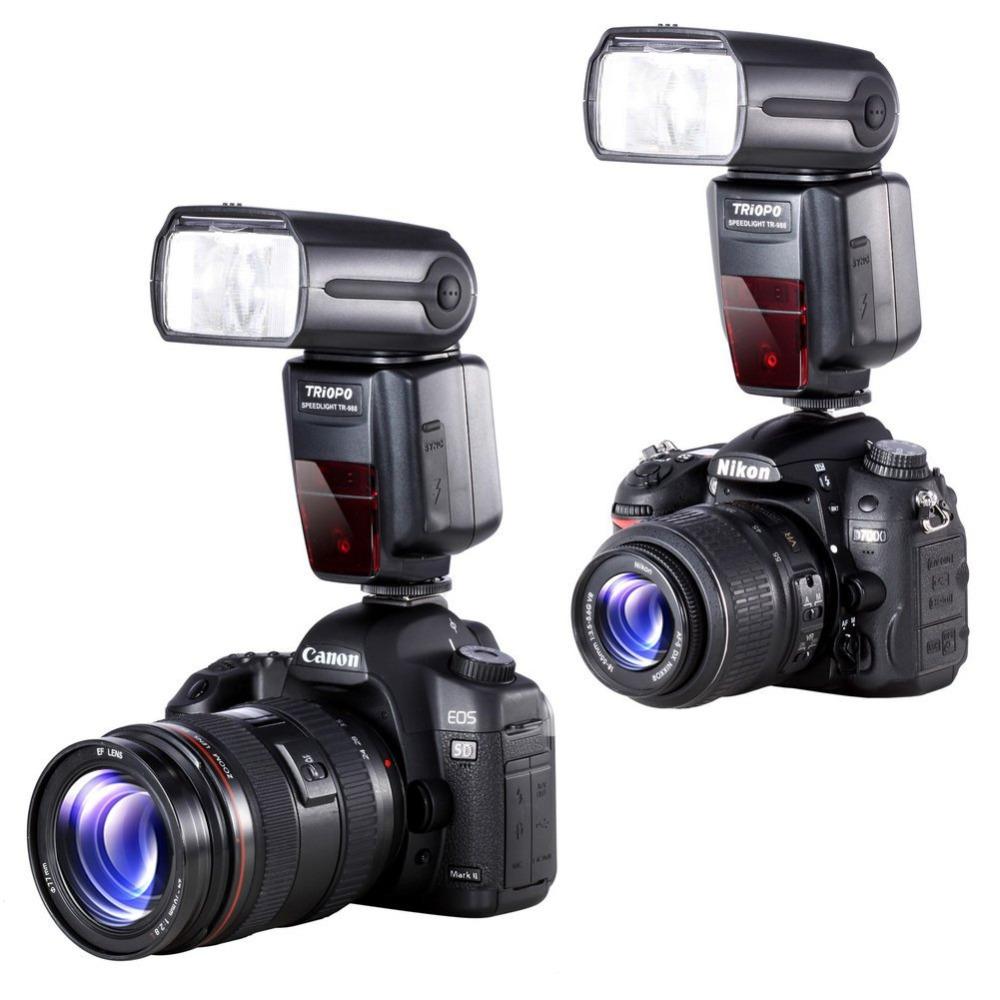 [해외]TRIOPO TR-988 캐논과 니콘 디지털 SLR 카메라 TR988 + 디퓨저 용 고속 스피드 TTL 카메라 플래시 고속 동조/TRIOPO TR-988 Professional Speedlite TTL Camera FlashHigh Speed Sync for C