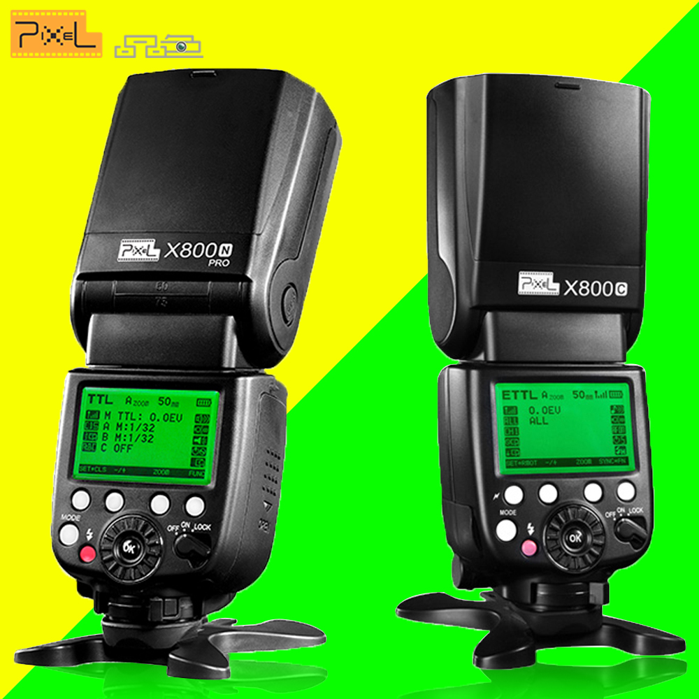 [해외]전문 Speedlite 픽셀 X800C X800N 프로 2.4G 라디오 LCD 디스플레이 무선 TTL HSS 플래시 속도계 Flashgun 캐논 니콘에 대한/Professional Speedlite Pixel X800C X800N PRO 2.4G Radio LC