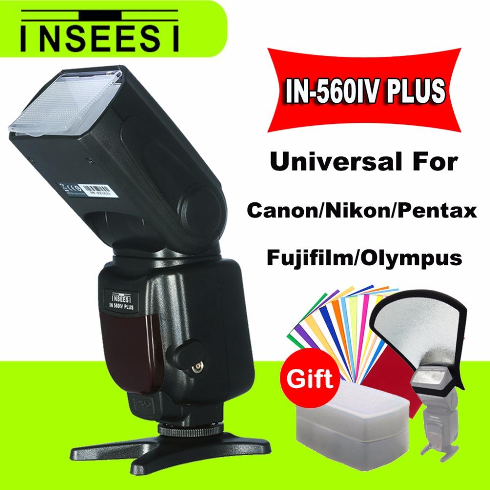 [해외]유니버설 카메라 손전등 INSEESI IN-560IV IN560IV 무선 수동 멀티 플래시 Speedlite 캐논 들어 니콘 대 Viltrox JY680A에 대 한/Universal Camera Flashlight INSEESI IN-560IV IN560IV W