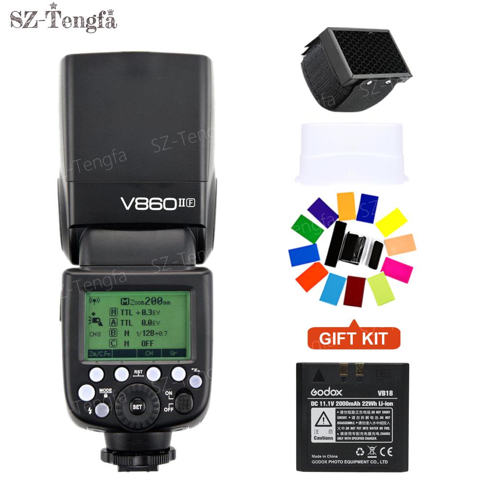 [해외]Godox VING V860IIF TTL 리튬 이온 카메라 플래시 마스터 & amp; 슬레이브 플래시 스피드 라이트 2.4G 무선 X 시스템 1 / 8000s 후지 카메라 용 HSS GN60/Godox VING V860IIF TTL Li-ion Camer