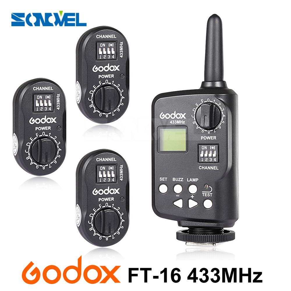 [해외]AD360 용 Godox FT-16 무선 송신기 파워 컨트롤러 트리거 3x 수신기 AD360II AD180 QT QS GT 카메라 플래시 스피드 라이트/Godox FT-16 Wireless Transmitter Power Controller Trigger 3x