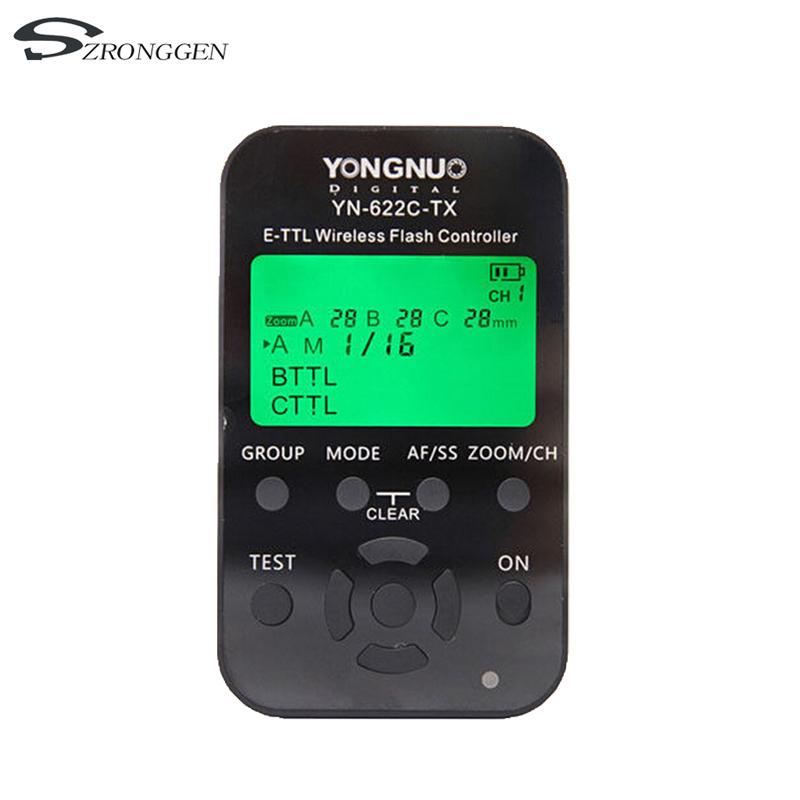 [해외]용인 YN-622C-TX YN622C-TX YN 622C TX E-TTL LCD 무선 플래시 컨트롤러 무선 플래시 트리거 송수신기 Canon DSLR/Yongnuo YN-622C-TX YN622C-TX YN 622C TX E-TTL LCD Wireless Fla
