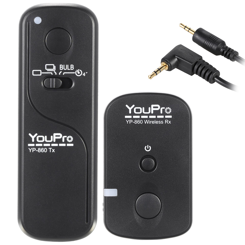 [해외]YouPro YP-860 E3 2.4G 무선 원격 제어 셔터 릴리스 송신기 수신기 캐논 Pentax DSLR 카메라를16 채널/YouPro YP-860 E3 2.4G Wireless Remote Control Shutter Release Transmitter R