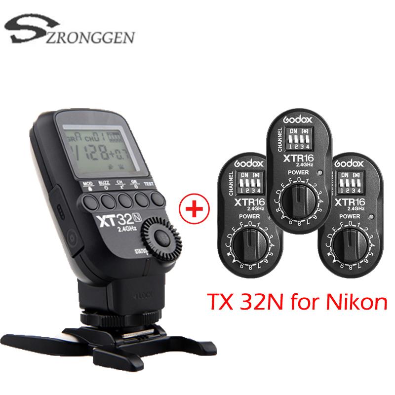 [해외]Godox XT32N HSS 1/8000 초고속 2.4G 무선 전원 제어 플래시 트리거 Nikon D800 D810 용/Godox XT32N HSS 1/8000 s Costruire-in 2.4G Wireless  Power Control Flash Trigge