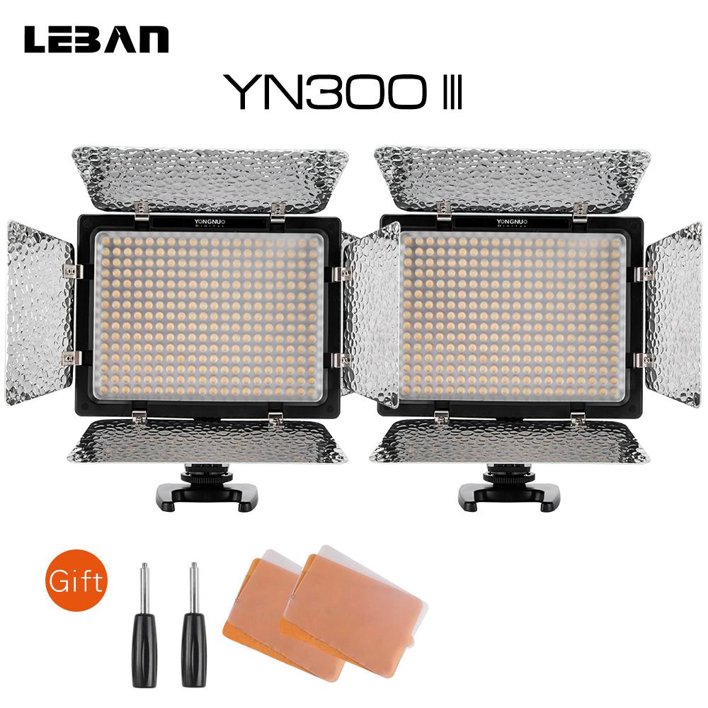 [해외]Yongnuo 2x YN300 III 5500K CRI95 + 직업적인 LED 영상 LightRemote 통제, 지원 AC 힘 어댑터 & amp; APP 원격/Yongnuo 2x YN300 III  5500K CRI95+ Pro LED Video Ligh