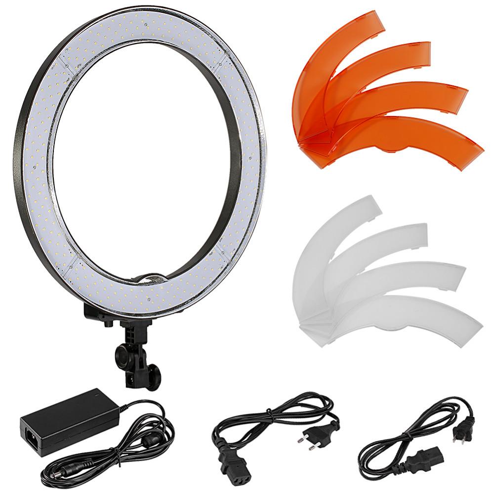 [해외]Neewer 카메라 사진 / 비디오 18 & 48cm 외부 55W 240PCS LED SMD 링 라이트 5500K 디 밍이 가능한 링 비디오 라이트 + 컬러 Filtes + 어댑터/Neewer Camera Photo/Video 18&/48cm Outer