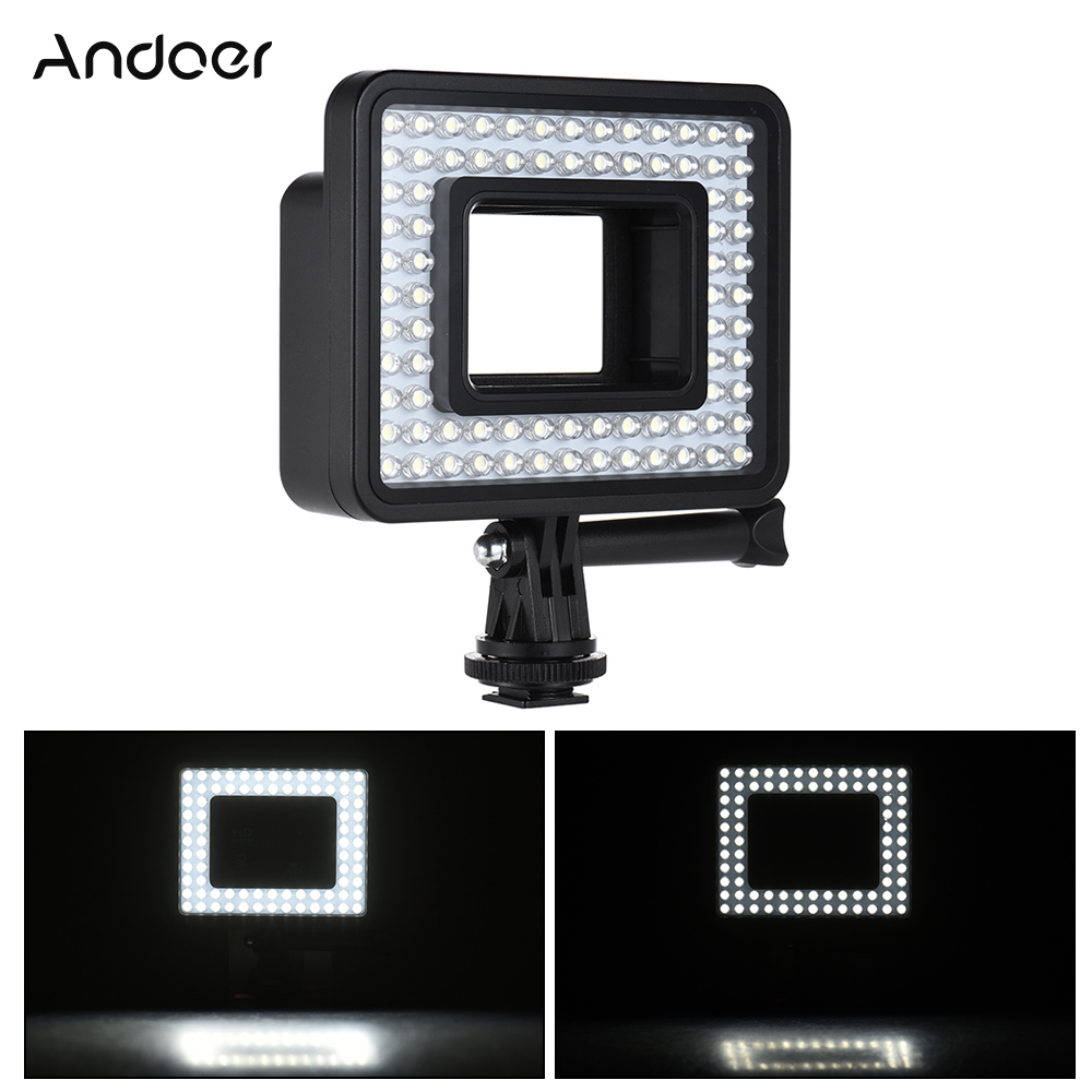 [해외]Andoer 액션 카메라 LED 링 라이트 Dimmable 80pcs 구슬 GoPro 영웅 4 / 3 + / 3 이순신 4K SJCam 스포츠 캠코더/Andoer Action Camera LED Ring Light Dimmable 80pcs Bead for Go