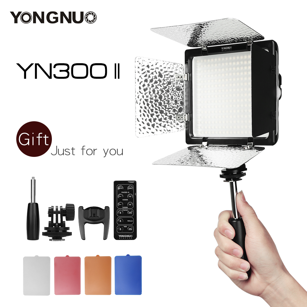 [해외]Yongnuo YN300II YN300-II 300 LED 카메라 & amp; 비디오 Lightremote 캠코더 3200-5500K 조정 가능한 색온도/YONGNUO YN300II YN300-II 300 LED Camera & Video Ligh