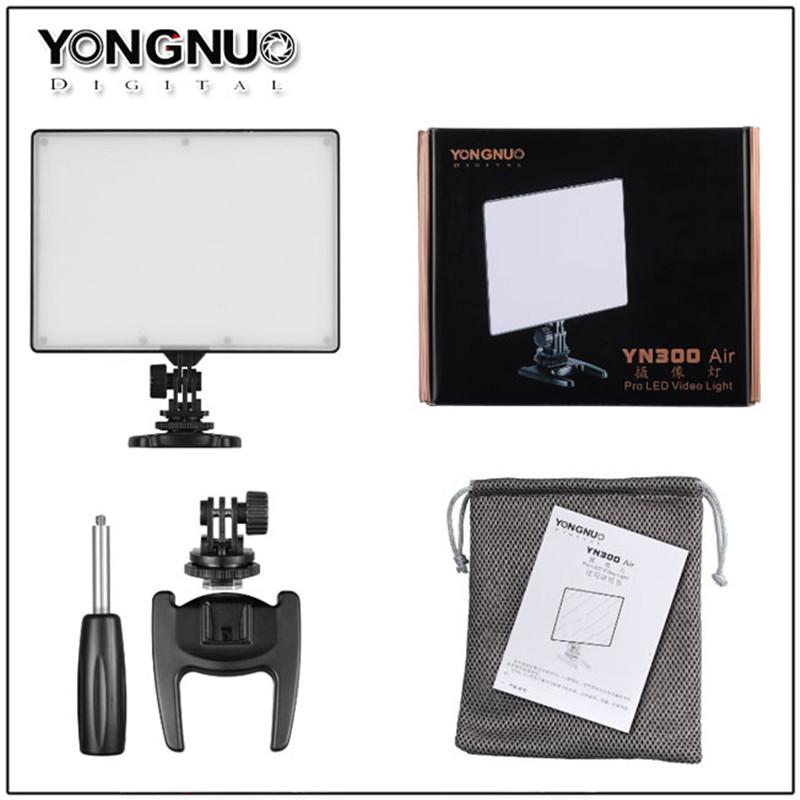 [해외]영남 YN300 에어 LED 카메라 비디오 라이트 컬러 온도 3200K - 5500K DSLR 캠코더 용 YN - 300 에어 사진 조명/YONGNUO YN300 Air LED Camera Video LightColor Temperature 3200K-5500K