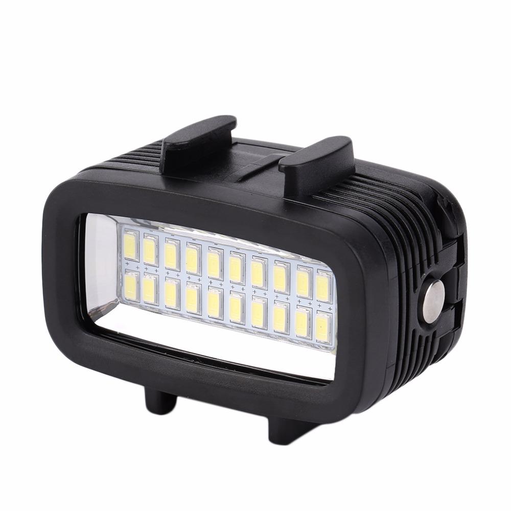 [해외]Protable 방수 주도 밝은 수 중 30 M LED 비디오 빛 액션 카메라 다이빙 램프 GOPRO에 적합/Protable Waterproof  led  light Bright Underwater 30M LED Video Light Action Camera D