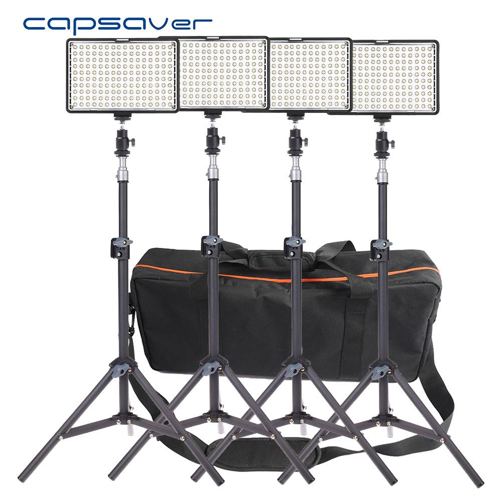 [해외]capsaver TL-160S 4 in 1 키트 LED 비디오 빛 사진 조명 Dimmable 3200K-5600K LED 스튜디오 조명 램프 삼각대 세트/capsaver TL-160S 4 in 1 Kit LED Video Light Photographic Lig