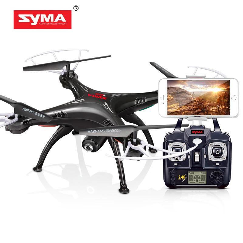 [해외]시마 X5SW DroneWiFi 카메라 실시간 전송 FPV Quadcopter 2.0MP의 HD 카메라 무인 항공기 2.4G 4CH RC 헬리콥터 - 블랙/Syma X5SW DroneWiFi Camera Real-time Transmit FPV Quadcopte