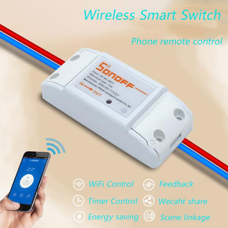 [해외]2016 새로운 Sonoff 스마트 홈 무선 원격 제어 와이파이 스위치, 지능형 타이머 스위치 DIY의 스위치를 220V 제어 비아? ? ???? ?? IOS/2016 New Sonoff Smart Home Wireless Remote Control Wifi S