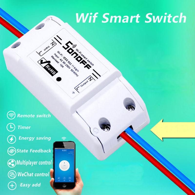 [해외]Itead Sonoff TH 10A 스마트 홈 와이파이 원격 제어 무선 스위치 Sonoff E27 WiFi 전구 홀더 컨트롤을 통해 IOS? ? ???? ??/Itead Sonoff TH 10A Smart Home Wifi Remote Control Wirele