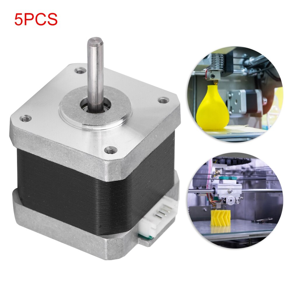 [해외]BYGH40 1.68A 5PCS Two-Phase High Torque 42 Stepper Motor For 3D Printer / CNC Accessories 3D Printer Motor/BYGH40 1.68A 5PCS Two-Phase High Torque