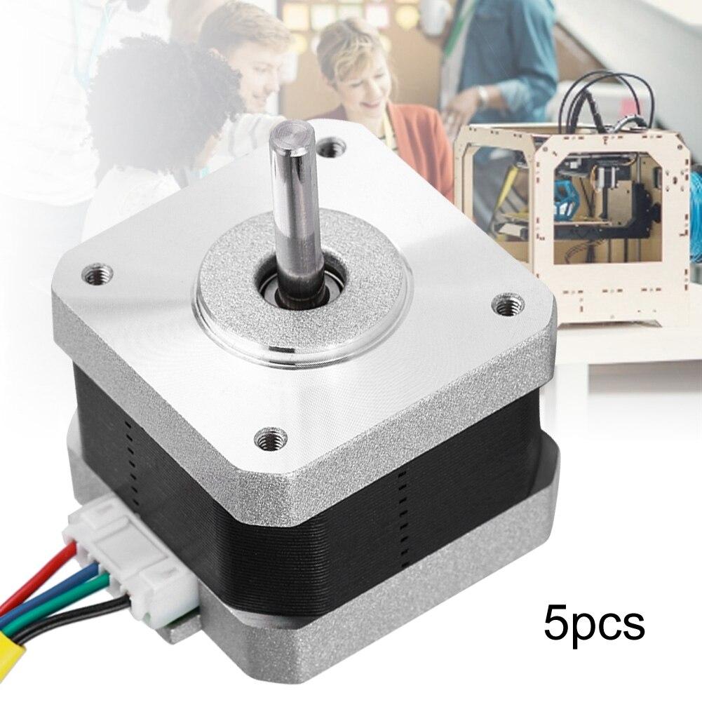 [해외]5PCS 1.2A High Torque 1.8 Degree 42 Two-Phase 4-wire Stepper Motor For 3D Printer Accessories CNC Parts On /5PCS 1.2A High Torque 1.8 Degree 42 Tw