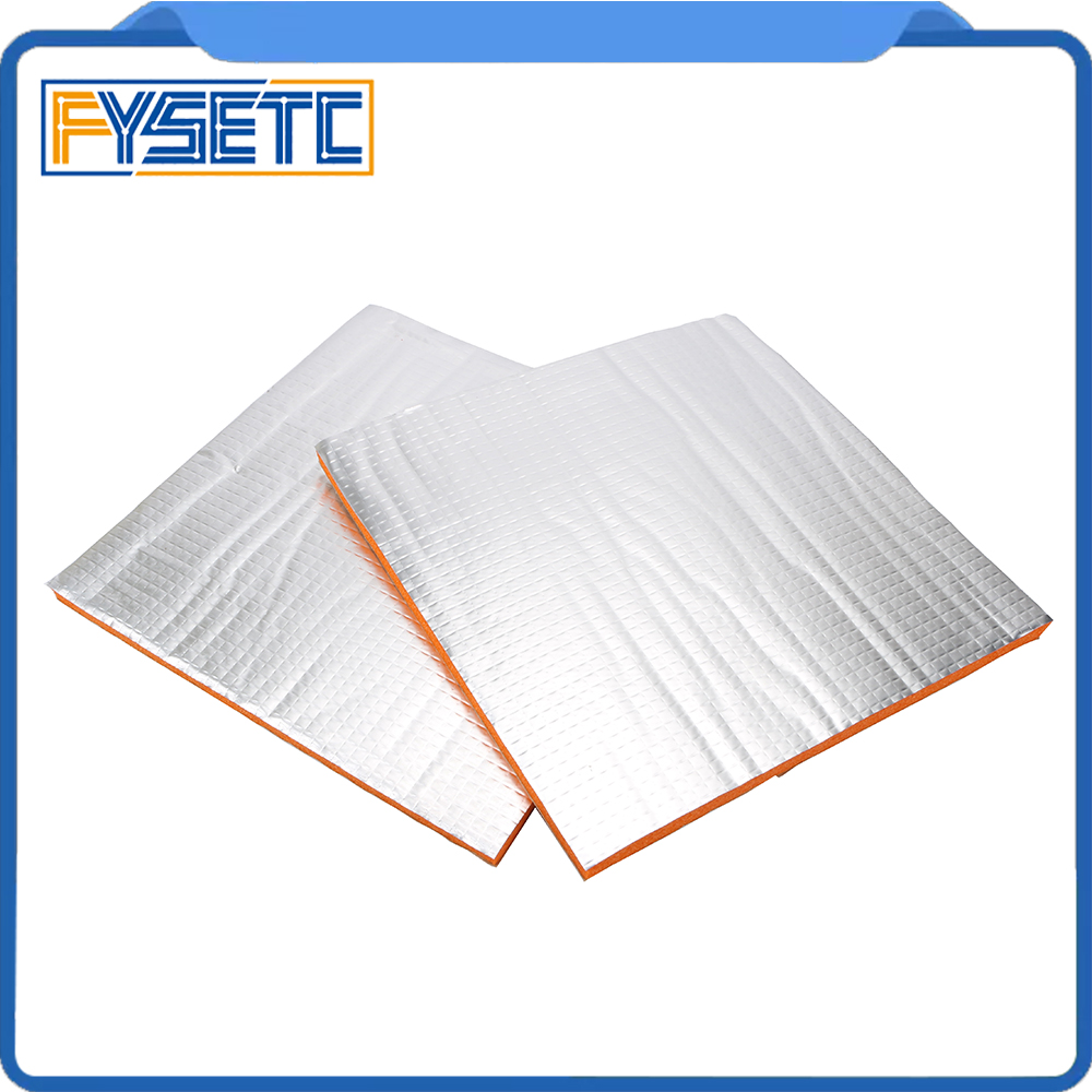 [해외]2pcs 214*214 mm Foil Self-adhesive Heat Insulation Cotton Orange 3D Printer Heating Bed Sticker 10mm Thickness For Wanhao i3/2pcs 214*214 mm Foil