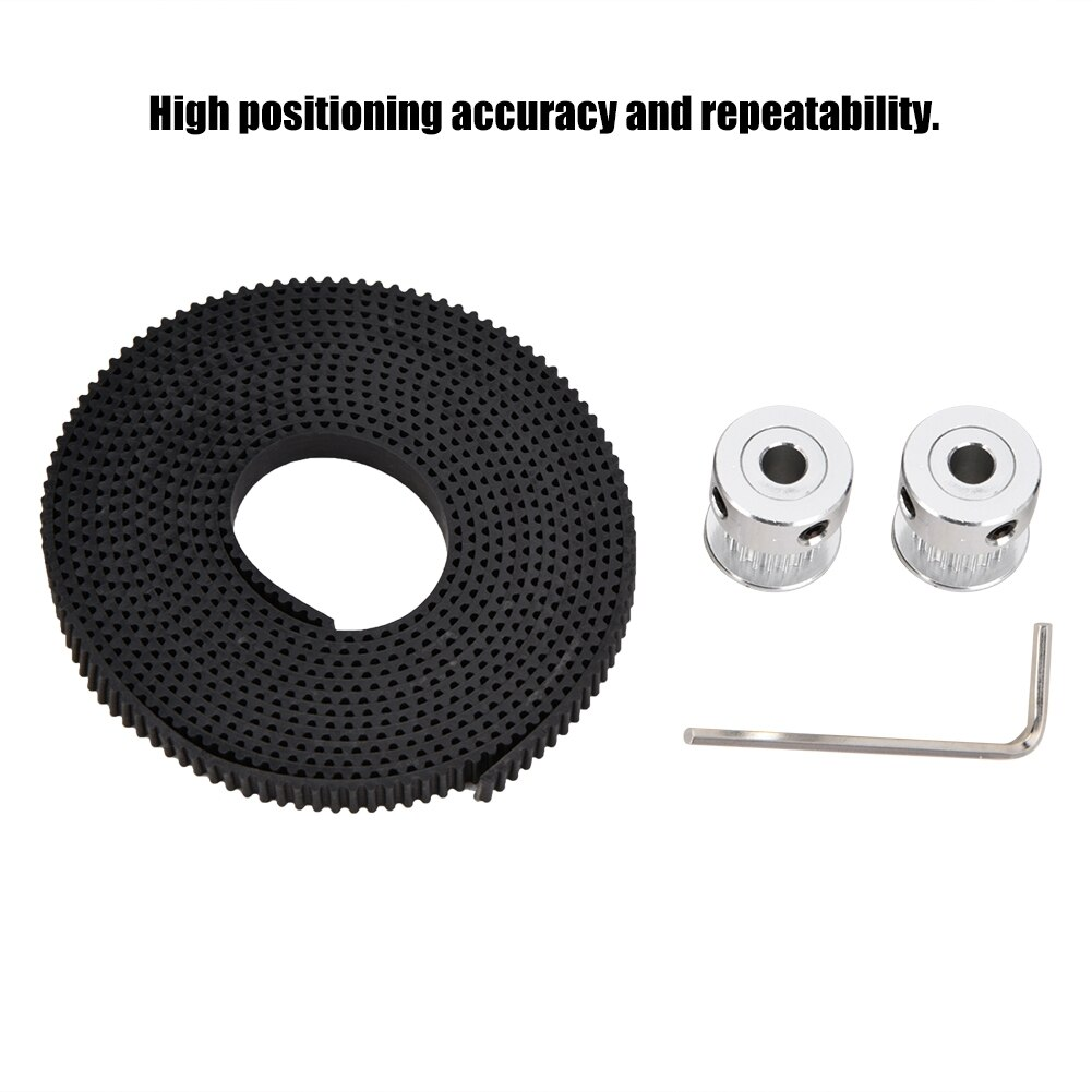 [해외] New 2 Meters GT-2 Rubber Timing Belt + 2PCS 5mm 20Teeth Timing Pulleys + Spanner For 3D Printer Parts/ New 2 Meters GT-2 Rubber Timing Belt + 2PC