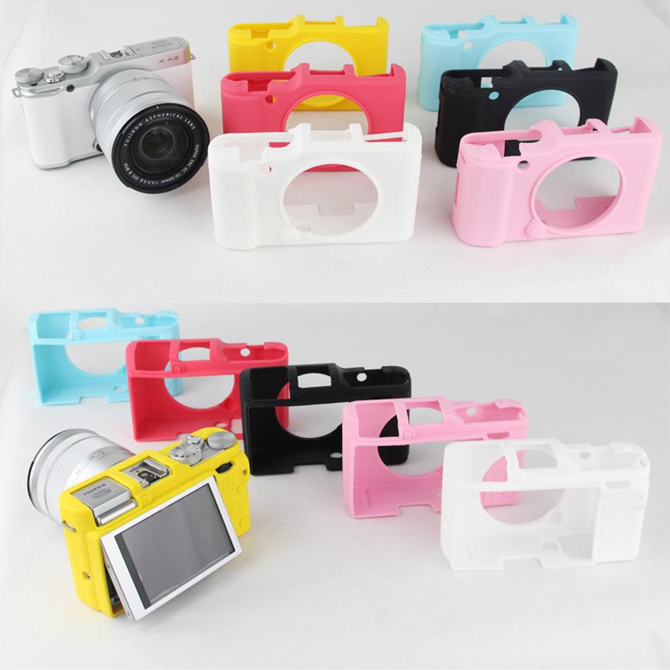 [해외]케이스 카메라 좋은 소프트 실리콘 고무 가방 카메라 보호 몸 커버 케이스 스킨 후지 필름 후지 X-A2 XA2 카메라 가방 6 색/Case Camera Nice Soft Silicone Rubber Bag Camera Protective Body Cover Ca