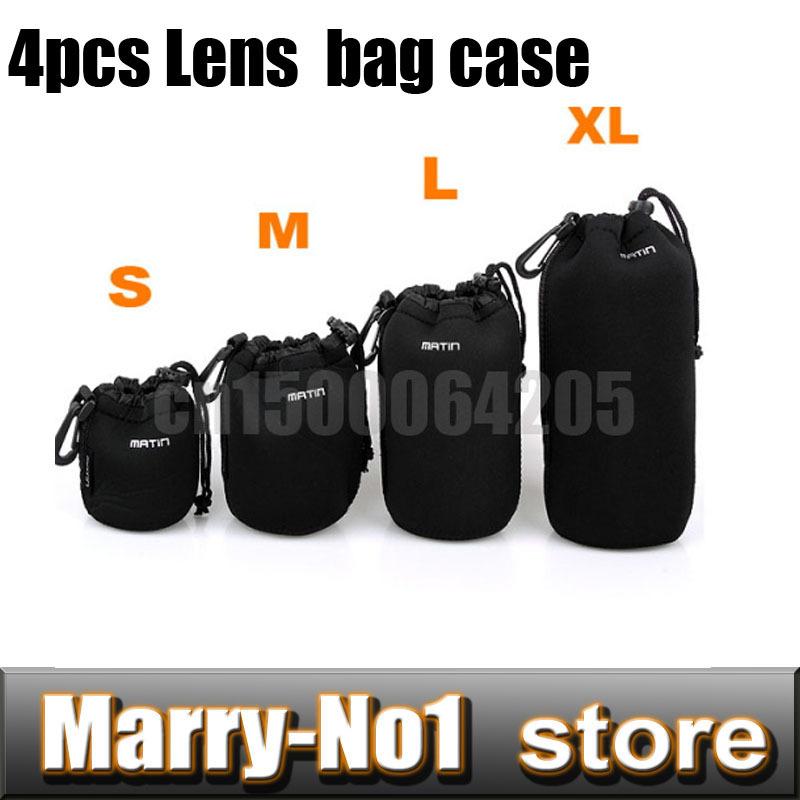 [해외]4PCS Matin 네오프렌 소프트 프로텍터 카메라 렌즈 파우치 백 케이스 방수 가방 크기 S M L XL/4PCS Matin Neoprene Soft Protector Camera Lens Pouch bag case waterproof backpact Size