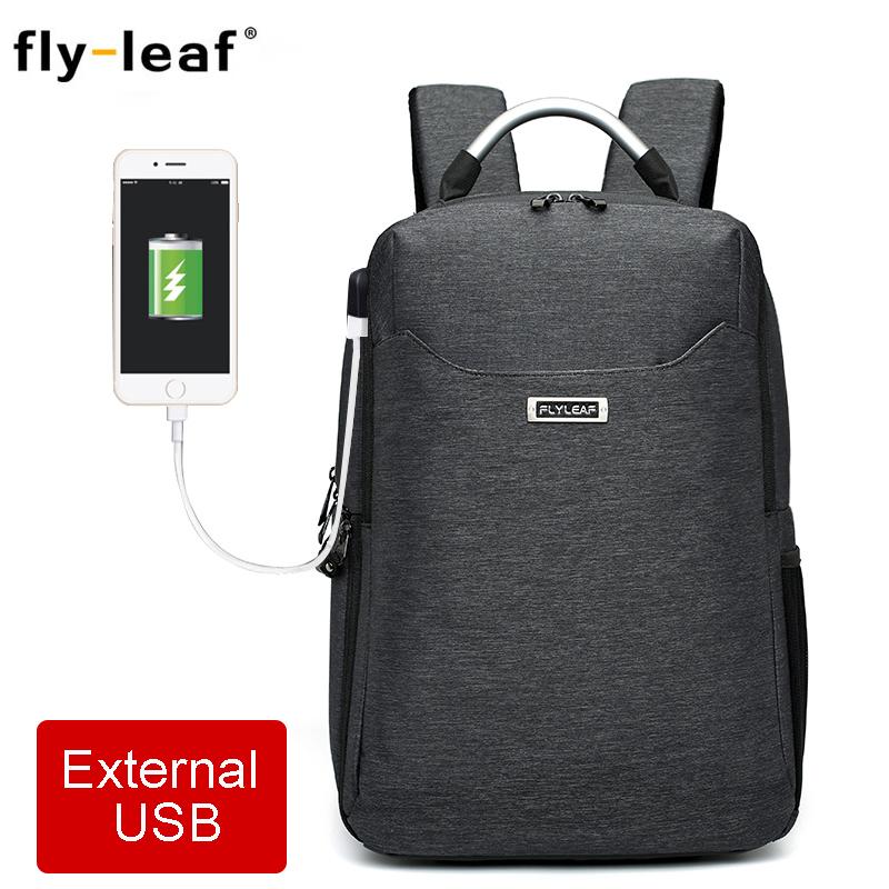 [해외]Flyleaf FL-9666 디지털 SLR 카메라 가방 외부 USB 충전 배낭 방수 전문 카메라 가방은 14 인치 노트북을 넣을 수 /Flyleaf FL-9666 Digital SLR camera bag External USB Charge Backpack wat