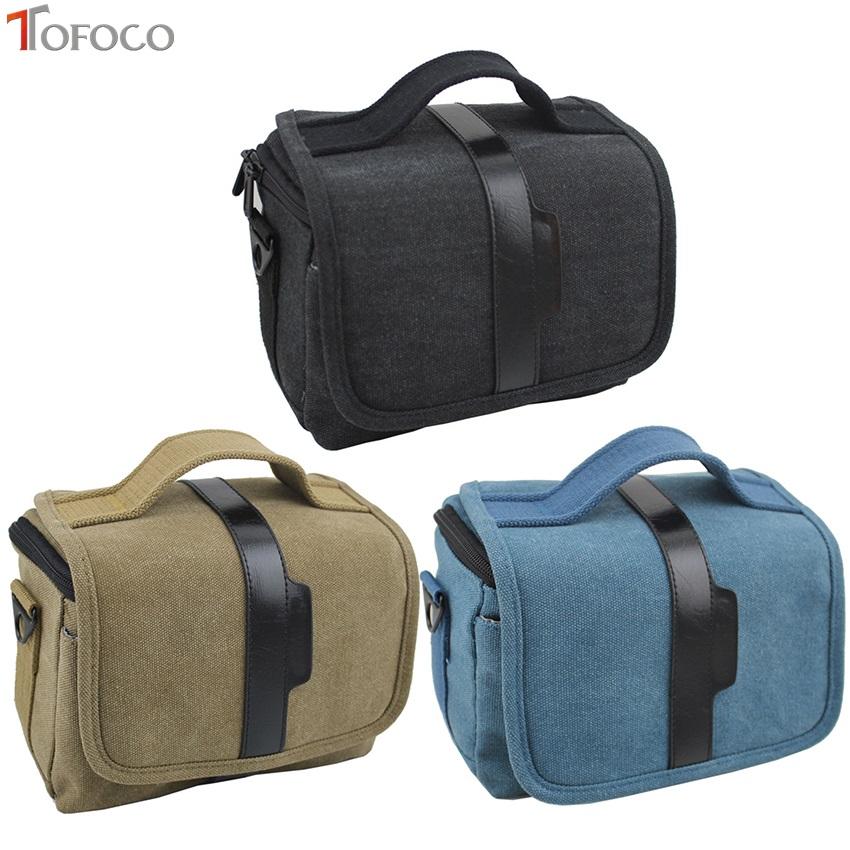 [해외]TOFOCO 캔버스 빈티지 DSLR SLR 카메라 숄더 백 남성용 빈티지 캔버스 가죽 군용 메신저 백 for Nikon/TOFOCO Canvas Vintage DSLR SLR Camera Shoulder Bag Men&s Vintage Canvas Leather