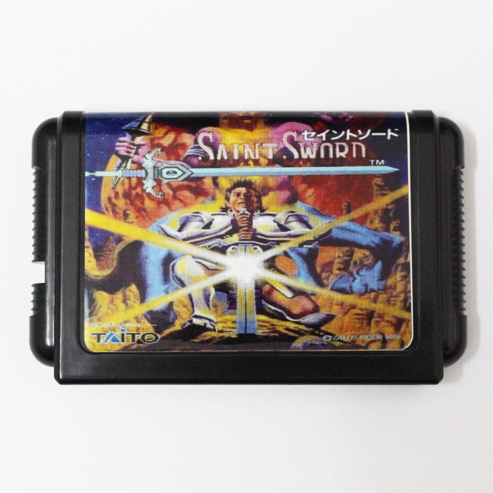 [해외]창세기를 들어 세가 메가 드라이브 용 생 검 16 비트 MD 게임 카드/Saint Sword 16 bit MD Game Card For Sega Mega Drive For Genesis