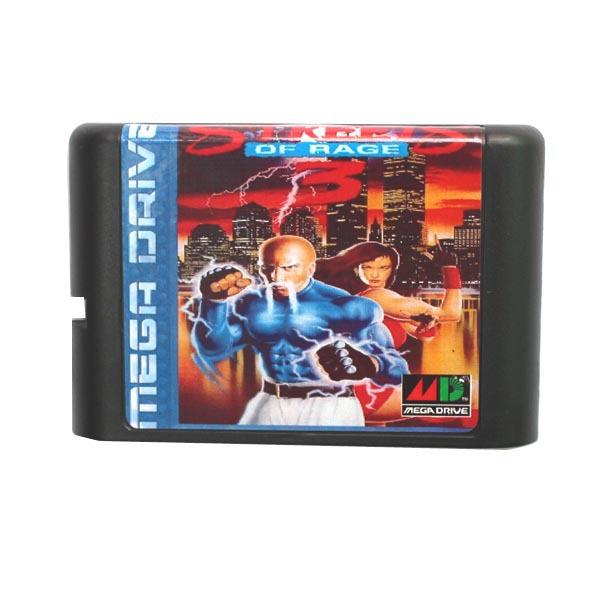 [해외]세가 MD 게임 카드 - 16 비트 세가 MD 게임 카트리지 메가 드라이브 창세기 시스템에 대한 분노 3 III의 거리/Sega MD game card - Streets Of Rage 3 III for 16 bit Sega MD game Cartridge Meg