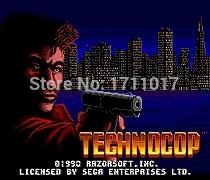 [해외]창세기를 들어 세가 메가 드라이브 용 Technocop 16 비트 MD 게임 카드/Technocop  16 bit MD Game Card For Sega Mega Drive For Genesis